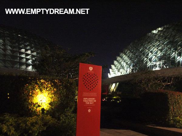 싱가포르 여행 - 에스플러네이드 옥상 & 주변 모습