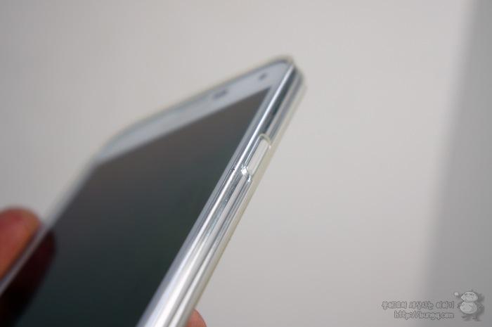 갤럭시S5 투명케이스, 호후, 0.7, 슬림핏, 착용