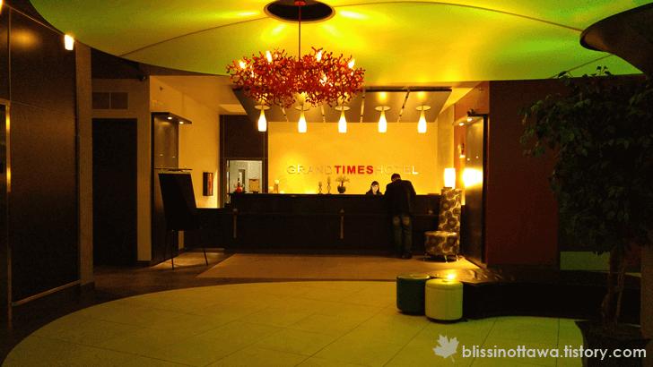 캐나다 퀘벡시티 호텔 프론트 데스크