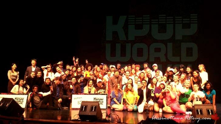 캐나다 오타와 K-POP 경연 대회 참가자들입니다