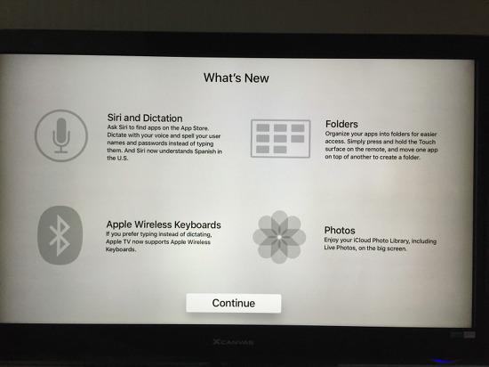 Apple TV tvOS 9.2 업데이트