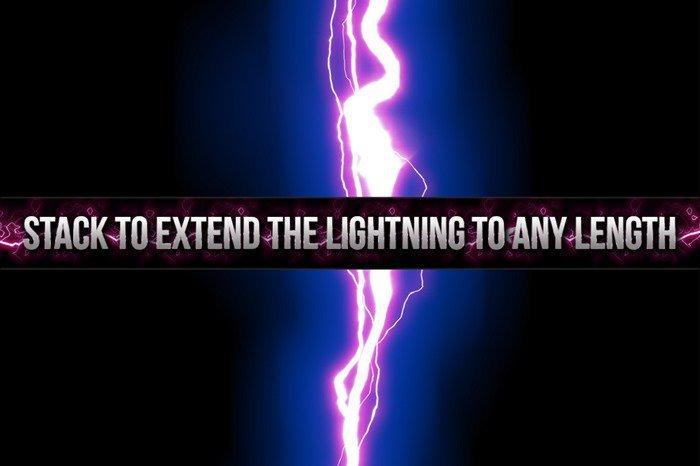 18 가지 무료 포토샵 번개 브러쉬 - 18 Free Seamless Lightning Strikes