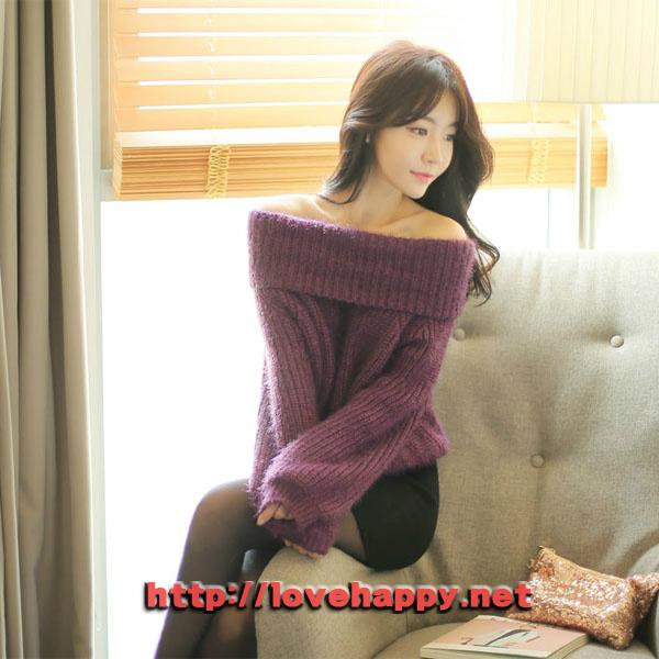 여성패션 니트 넥까지 올려서 입을 수 있는 오프숄더 006