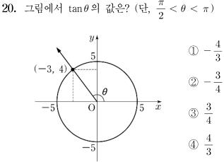 2014년도 제1회 고등학교 졸업학력 검정고시 수학 문제 20번