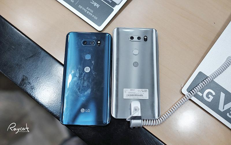 LG V30 블루와 클라우드 실버