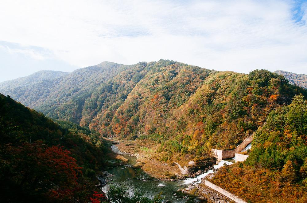 가을, 도암댐 앞에서