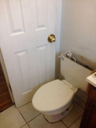 공사 잘못한 화장실