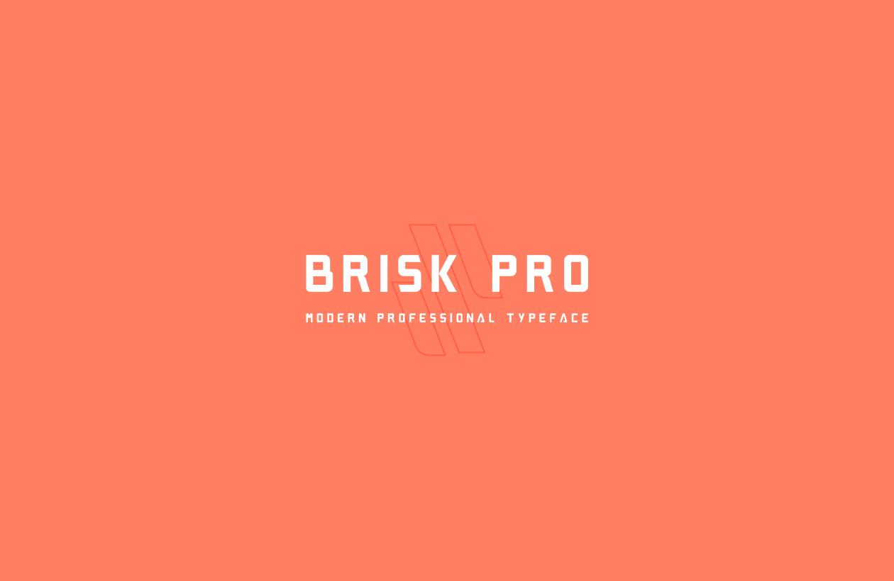 무료 디스플레이 서체 Brisk Pro Font 폰트