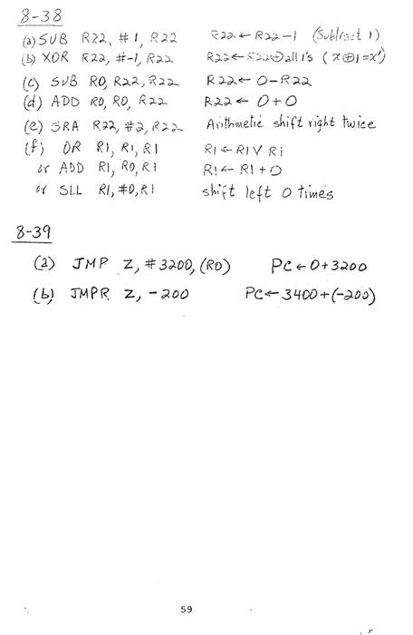 컴퓨터구조 연습문제, 모리스 마노 챕터8 59