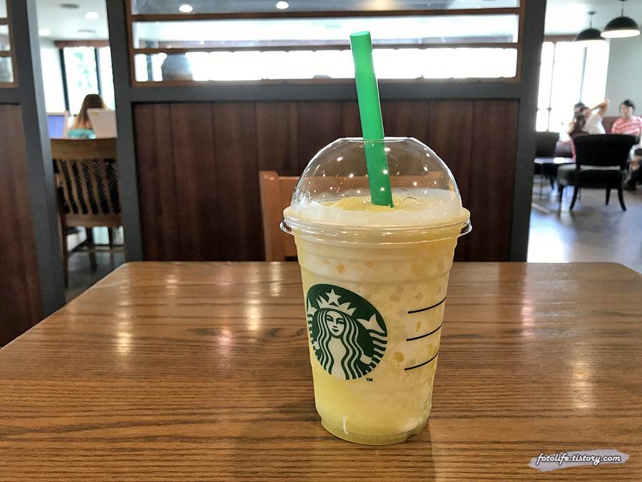 스타벅스 여름 신메뉴 <썸머 파인애플 블렌디드>를 마셔봤습니다!