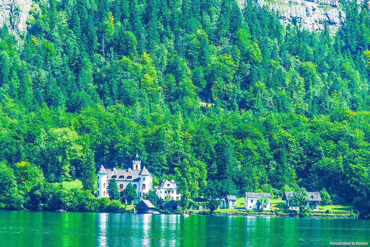 할슈타트 호수 풍경