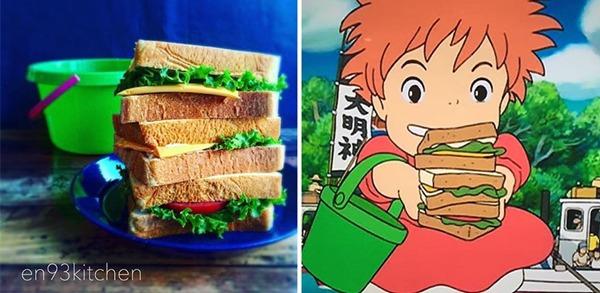 '벼랑 위의 포뇨' 샌드위치