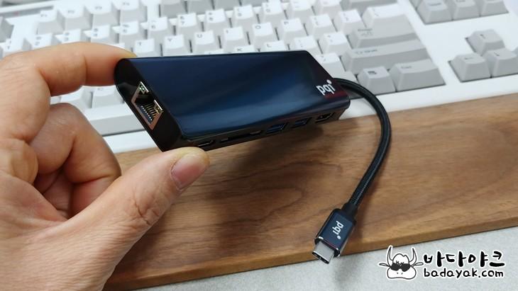 PQI USB Type C 6포트 멀티 허브 컨버터
