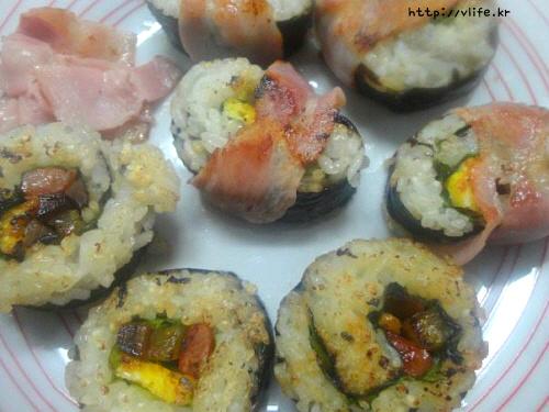 남은 김밥 먹는법