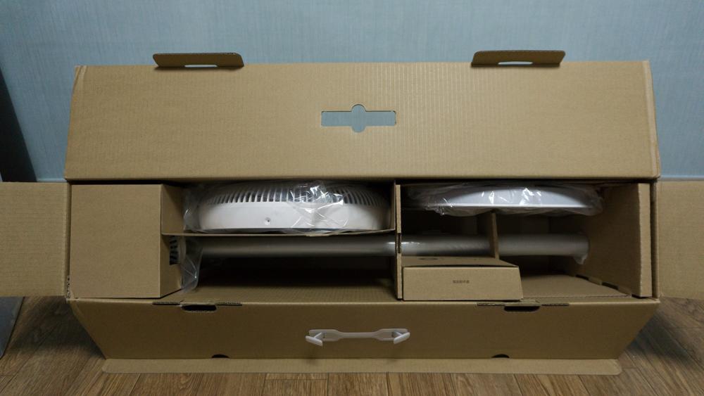 샤오미 스마트 선풍기 제품 박스 오픈