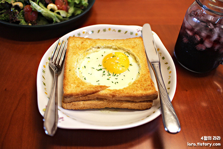에그인홀토스트_달걀요리