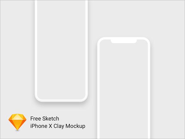 무료 아이폰X 목업Mockup 템플릿 Sketch PSD 파일모음